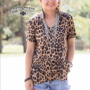 The Darlin Leopard Top by Crazy Train.